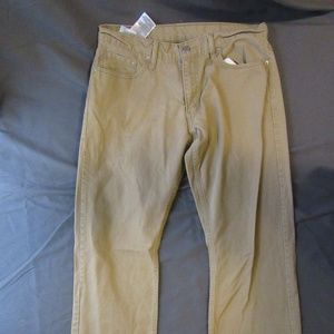 Mens Levis Tan 514 Sz 34x32